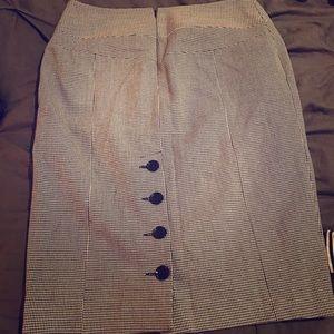 Express Houndstooth Pencil Skirt w/ Buttons